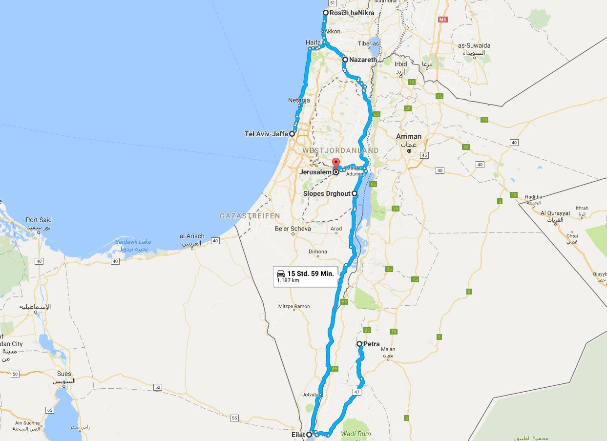reise israel jordanien